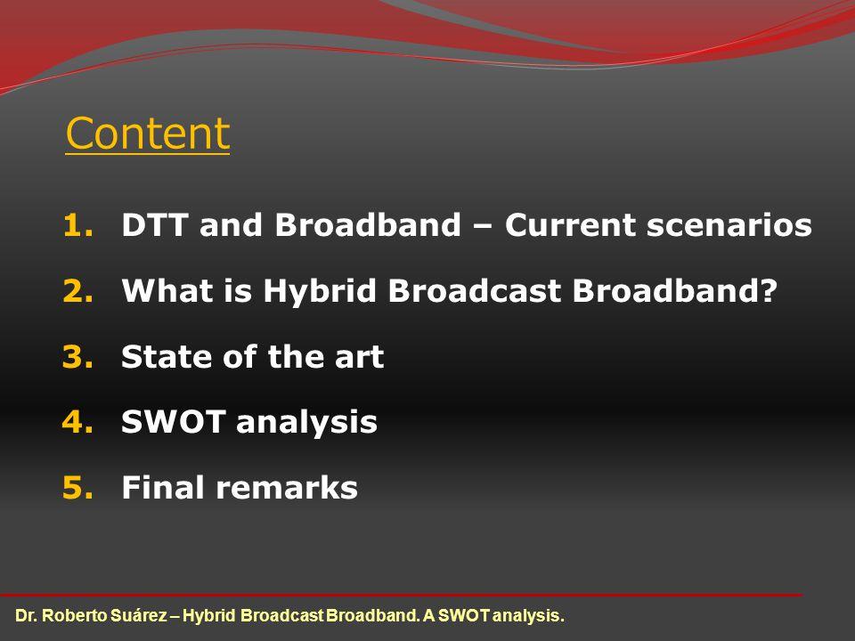 Dr. Roberto Suárez – Hybrid Broadcast Broadband. A SWOT analysis.