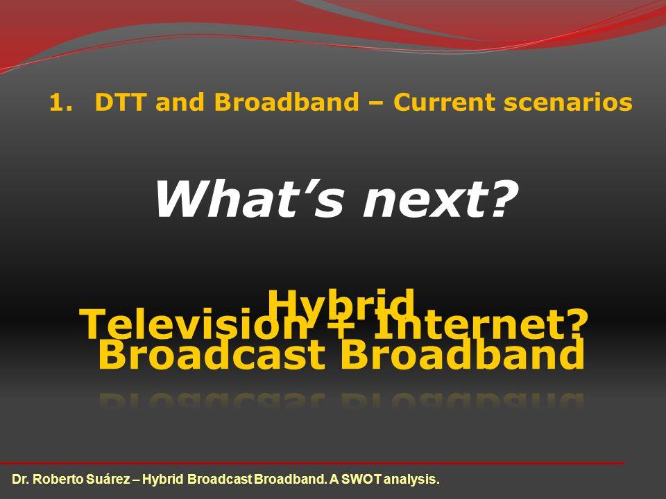 1.DTT and Broadband – Current scenarios Whats next.