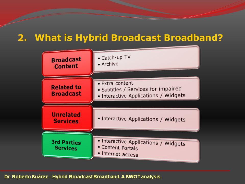 2.What is Hybrid Broadcast Broadband. Dr. Roberto Suárez – Hybrid Broadcast Broadband.