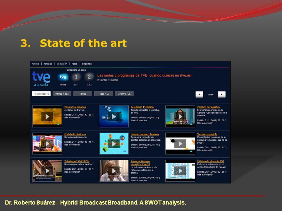 3.State of the art Dr. Roberto Suárez – Hybrid Broadcast Broadband. A SWOT analysis.