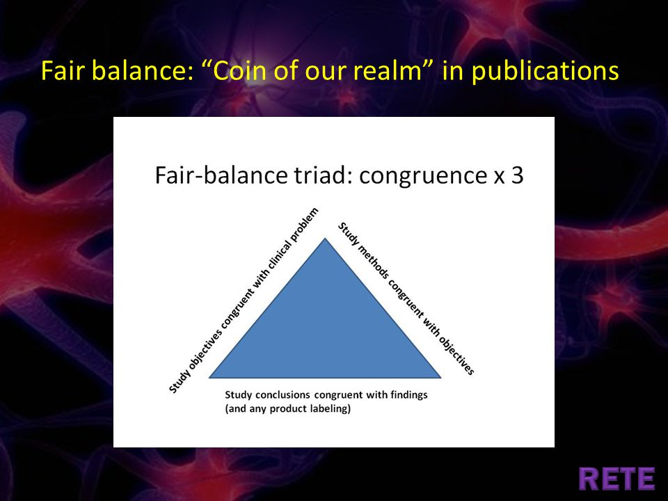 Fair balance: Coin of our realm in publications