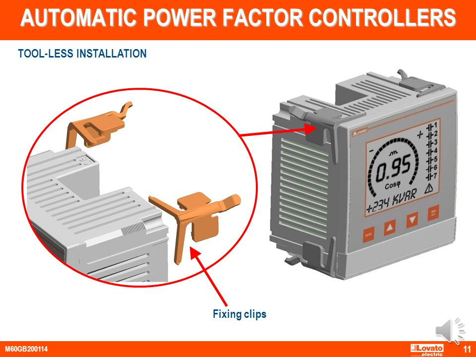 AUTOMATIC POWER FACTOR CONTROLLERS EXPANSION MODULES Plug-in connection at the back of the base unit Power supplied by the base unit Increase the numb