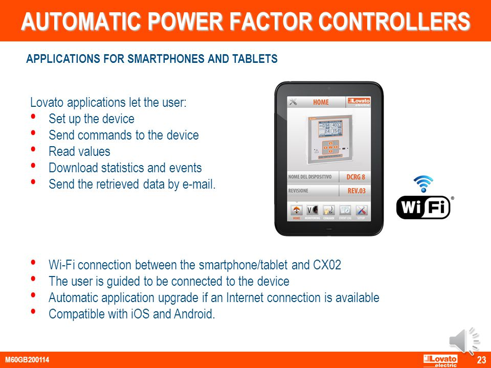 AUTOMATIC POWER FACTOR CONTROLLERS Web based Server – Multiclient structure One software for many devices (multichannel) SUPERVISION AND CONTROL SOFTW