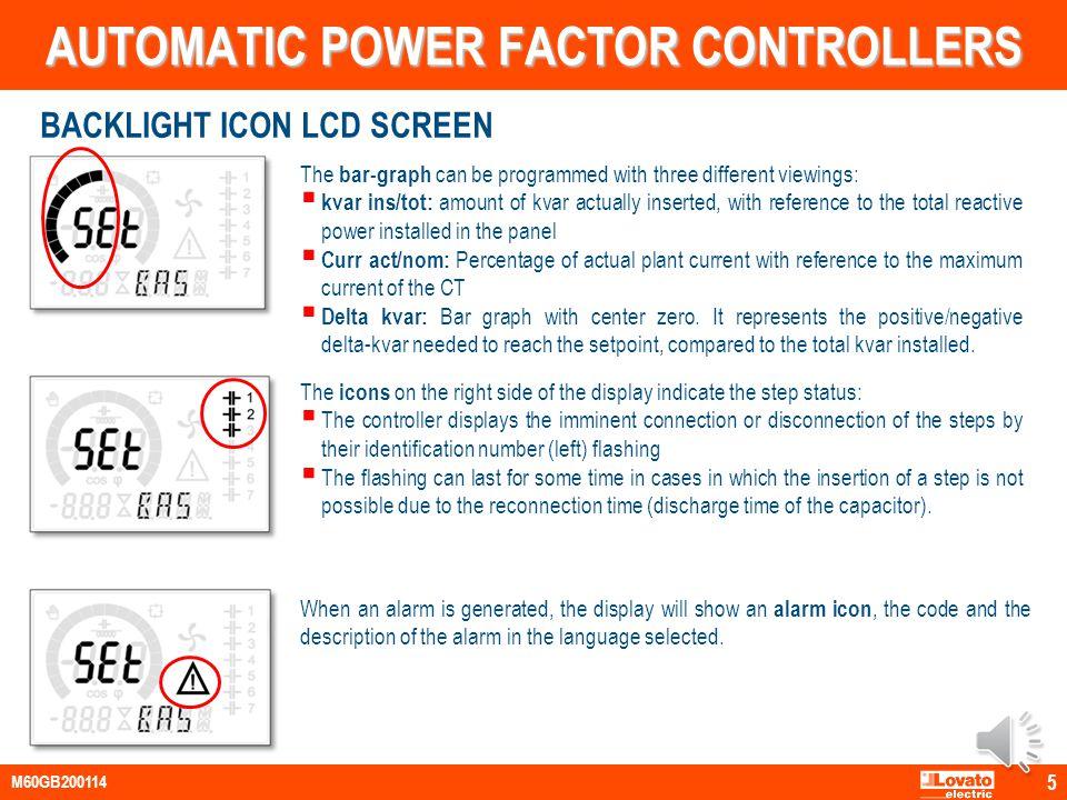 Output status Cooling fan status Secondary display Active alarm Automatic mode Manual mode Main display Inductive / capacitive Bar graph Alphanu meric