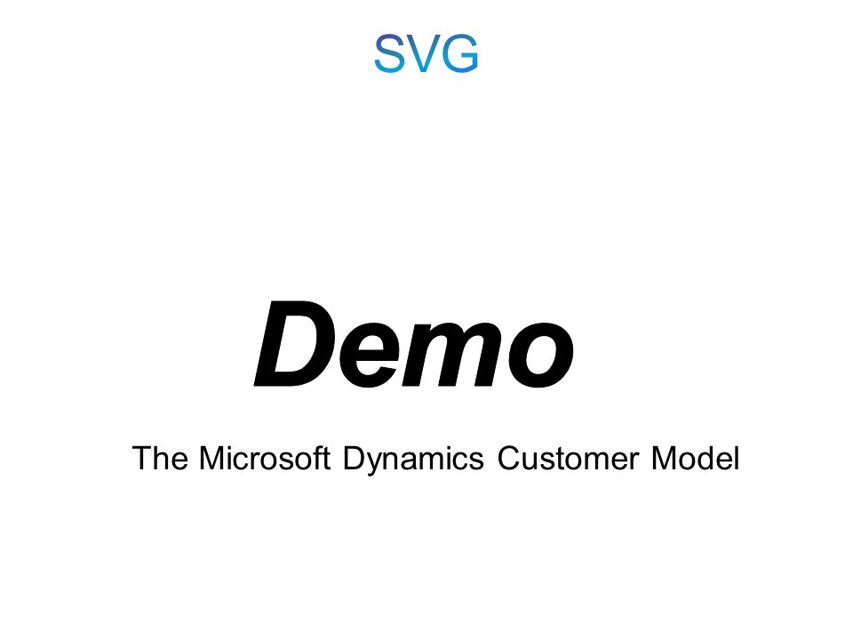 The Microsoft Dynamics Customer Model
