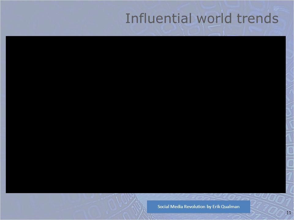11 Influential world trends Social Media Revolution by Erik Qualman