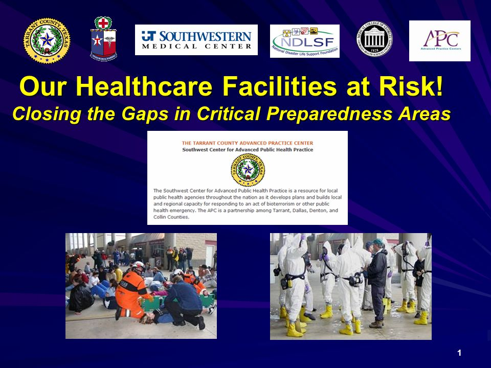 1 Our Healthcare Facilities at Risk! Closing the Gaps in Critical Preparedness Areas