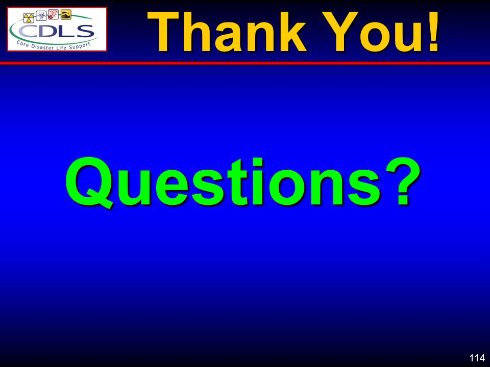 114 Thank You! Questions?