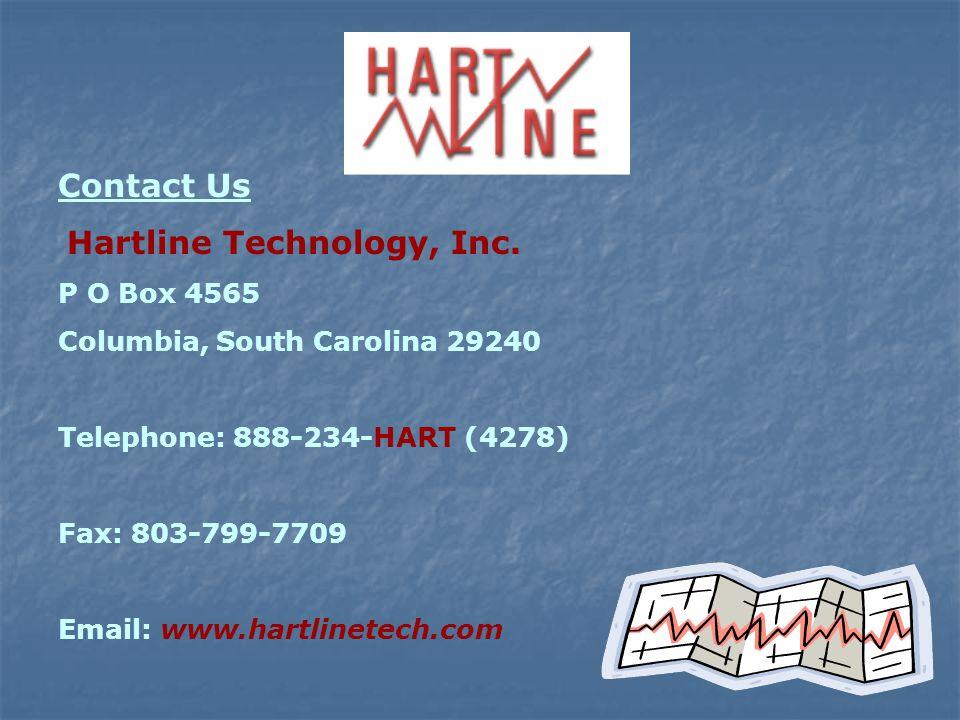 Visit us @: www.hartlinetech.com