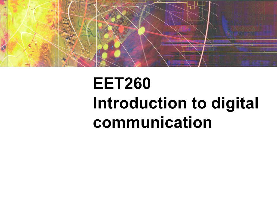 Advantages of digital signals Digital signals are easier to multiplex.