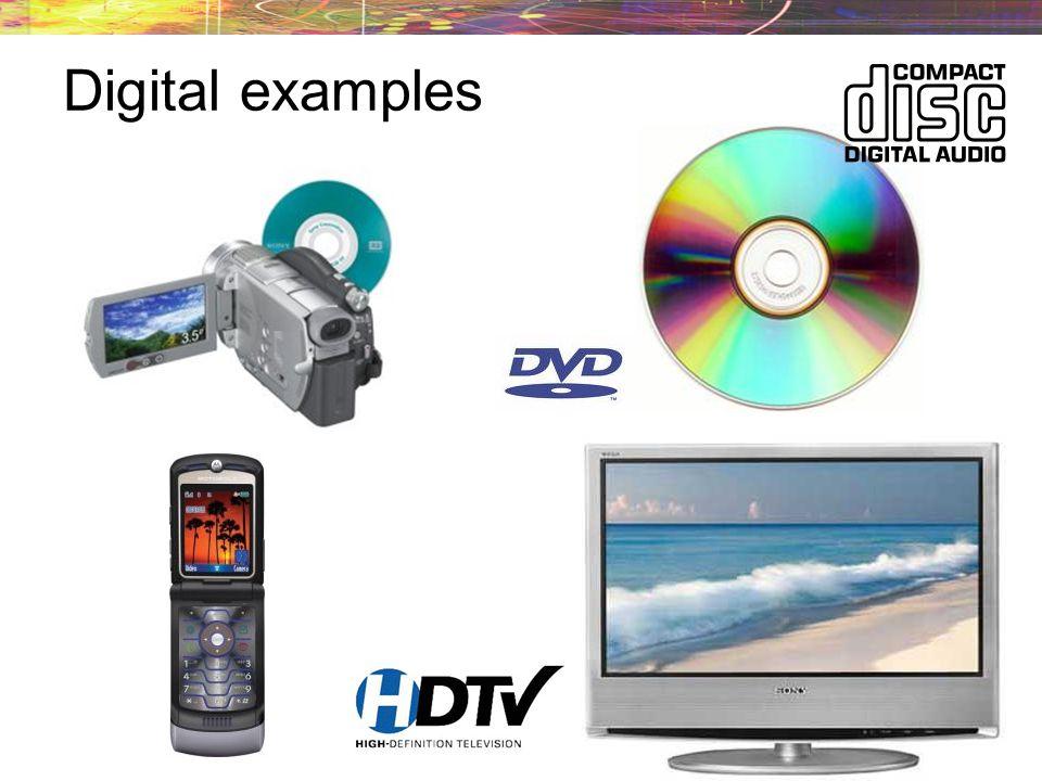 Advantages of digital signals The most important advantage of digital communications is noise immunity.