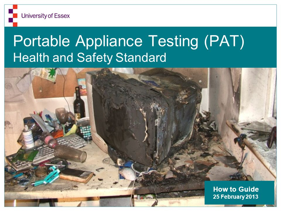 Why is Portable Appliance Testing needed.