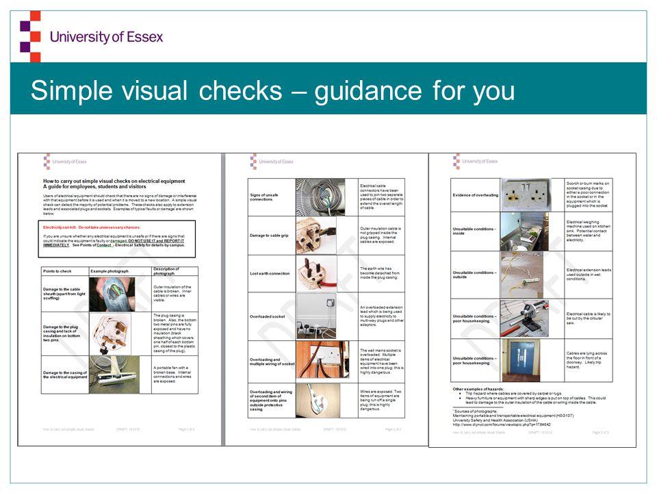 Dangerous Junk! Simple visual checks – guidance for you