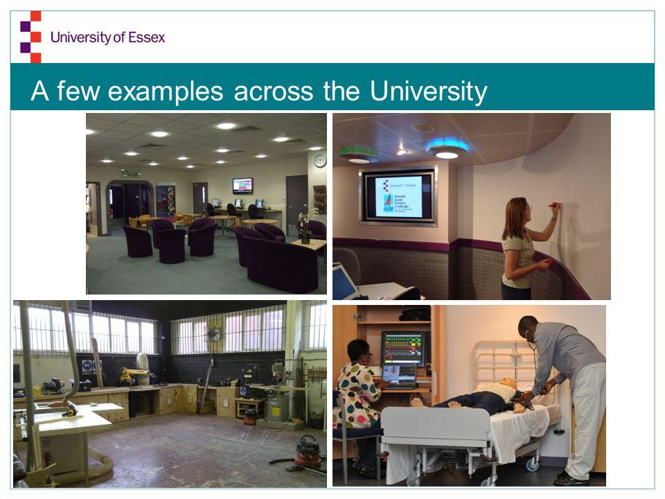 A few examples across the University