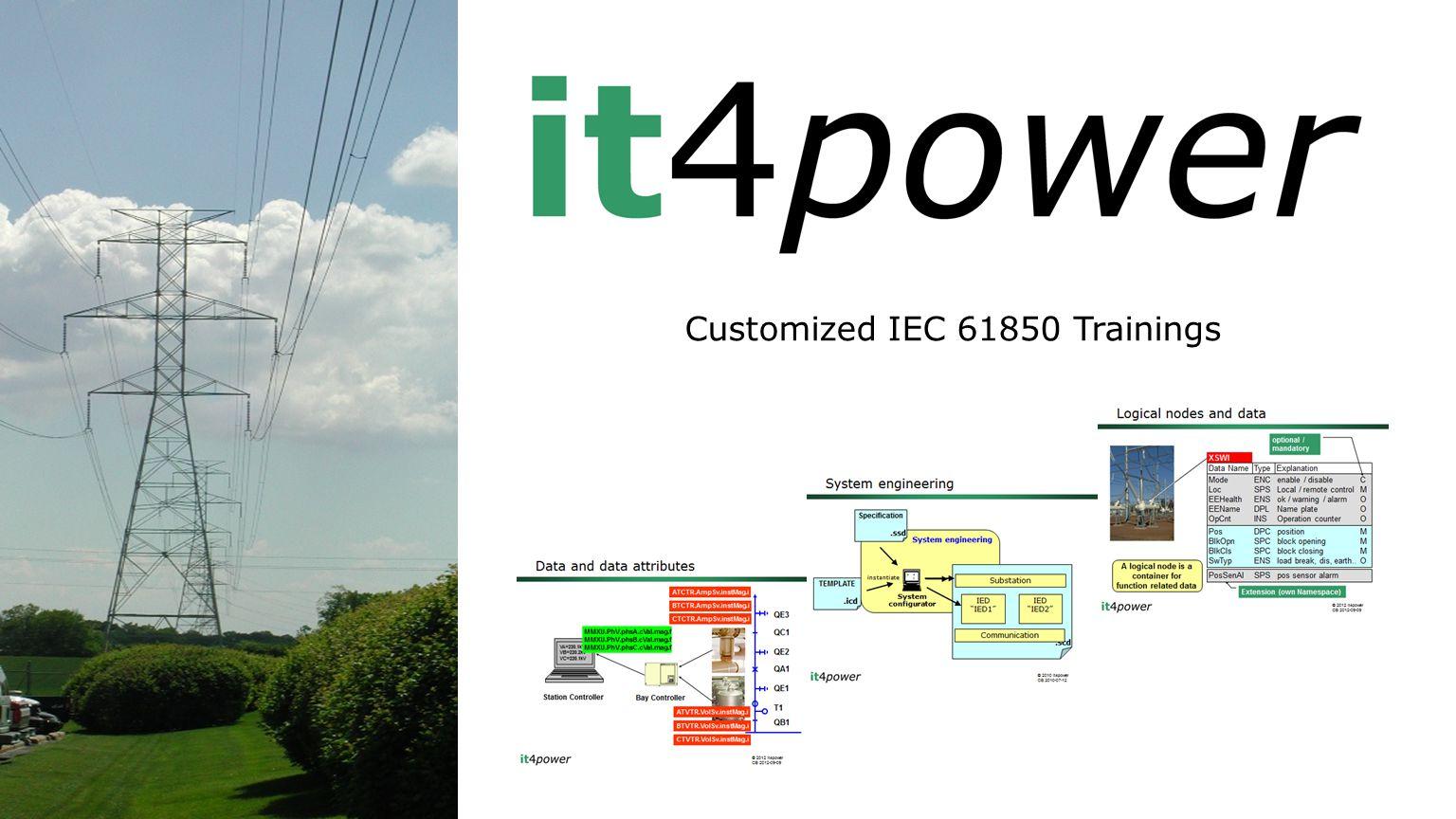 Customized IEC 61850 Trainings