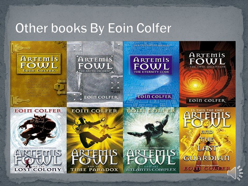 Eoin Colfer lives in Ireland. His writing has been compared with J.