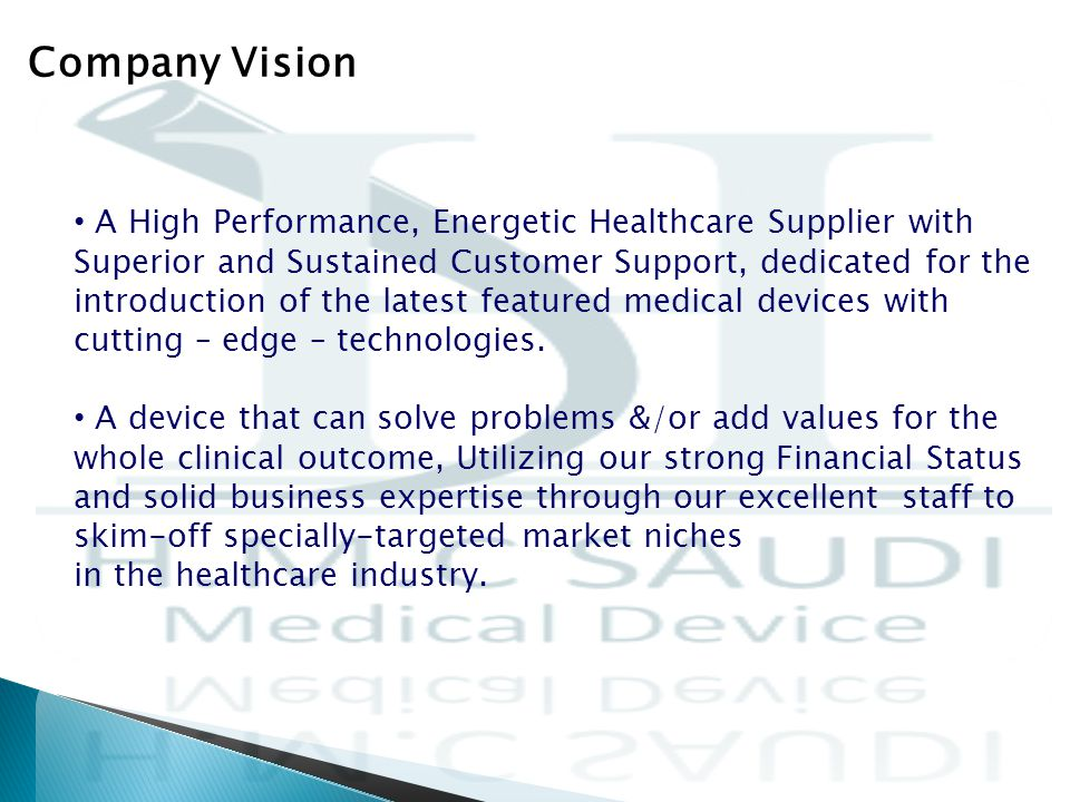 A High Performance, Energetic Healthcare Supplier with Superior and Sustained Customer Support, dedicated for the introduction of the latest featured