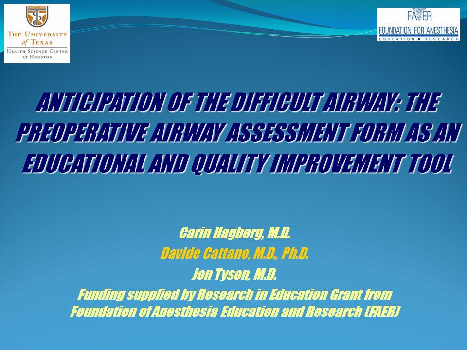 MASK VENTILATION Evaluation of mask ventilation