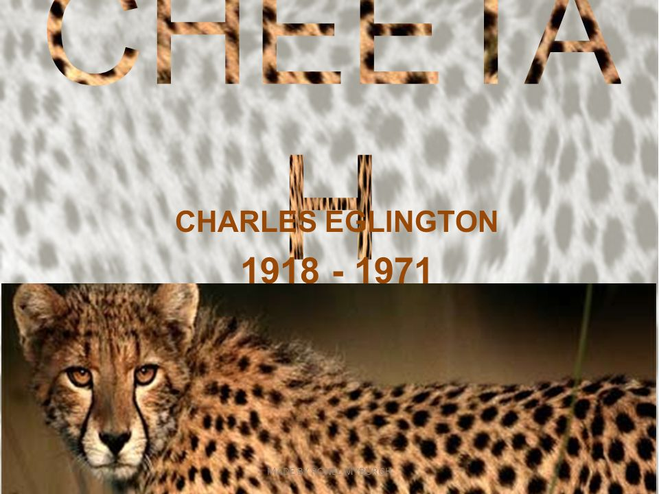 CHARLES EGLINGTON 1918 - 1971 MADE BY RONEL MYBURGH