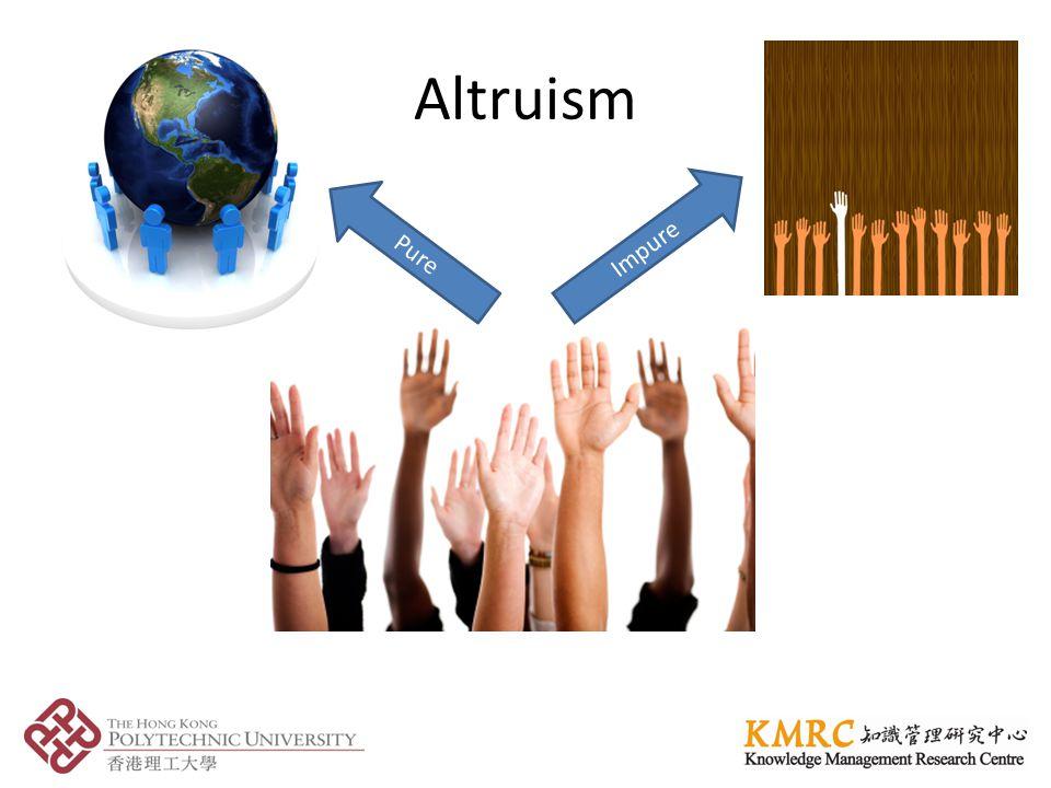 Altruism Impure Pure