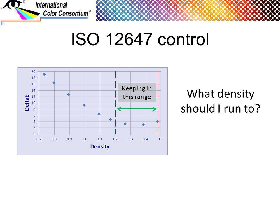 ISO 12647 control What density should I run to Keeping in this range