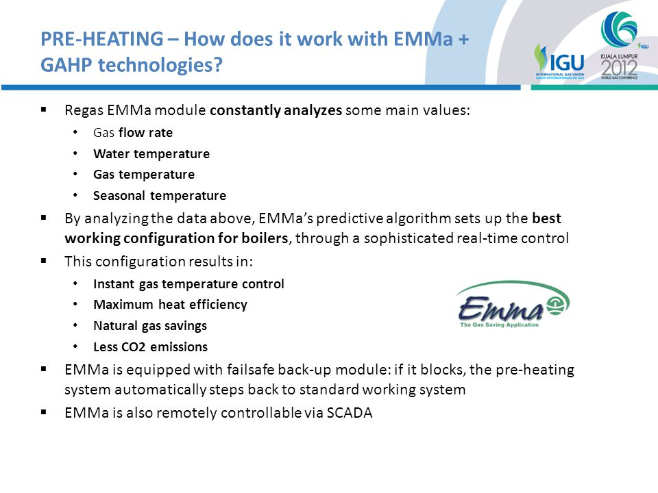 PRE-HEATING – How does it work with EMMa + GAHP technologies.