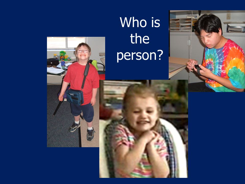 Who is the person?