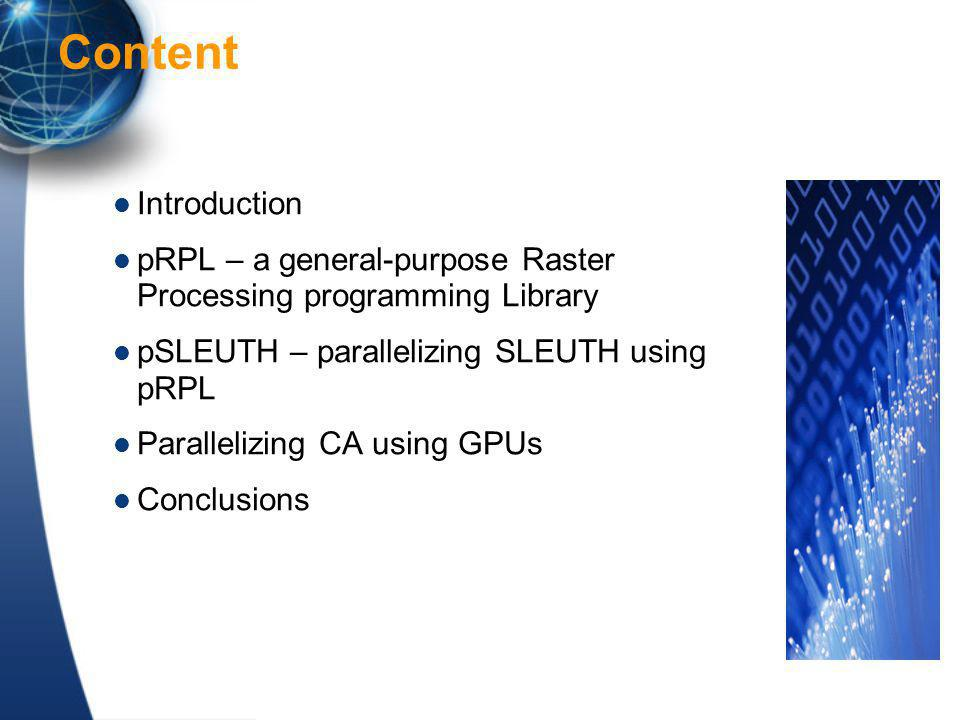 HPC greatly reduces the computing time for model calibration – Enables the removal of simplifying assumptions – Can increase the reliability of calibration and accuracy of simulation New computing accelerator technology enables HPC-SLUETH with very low costs Opportunities for us to test and verify conclusions and theories, as well as to stimulate new theories Conclusion