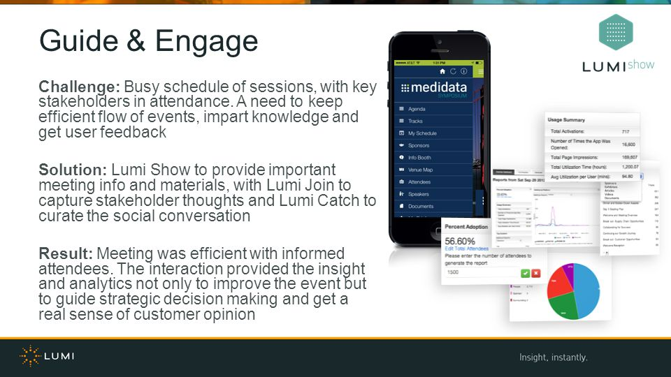 Guide & Engage Challenge: Busy schedule of sessions, with key stakeholders in attendance.