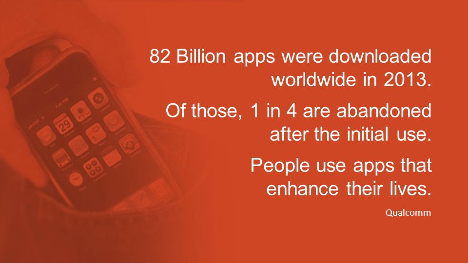 82 Billion apps were downloaded worldwide in 2013.