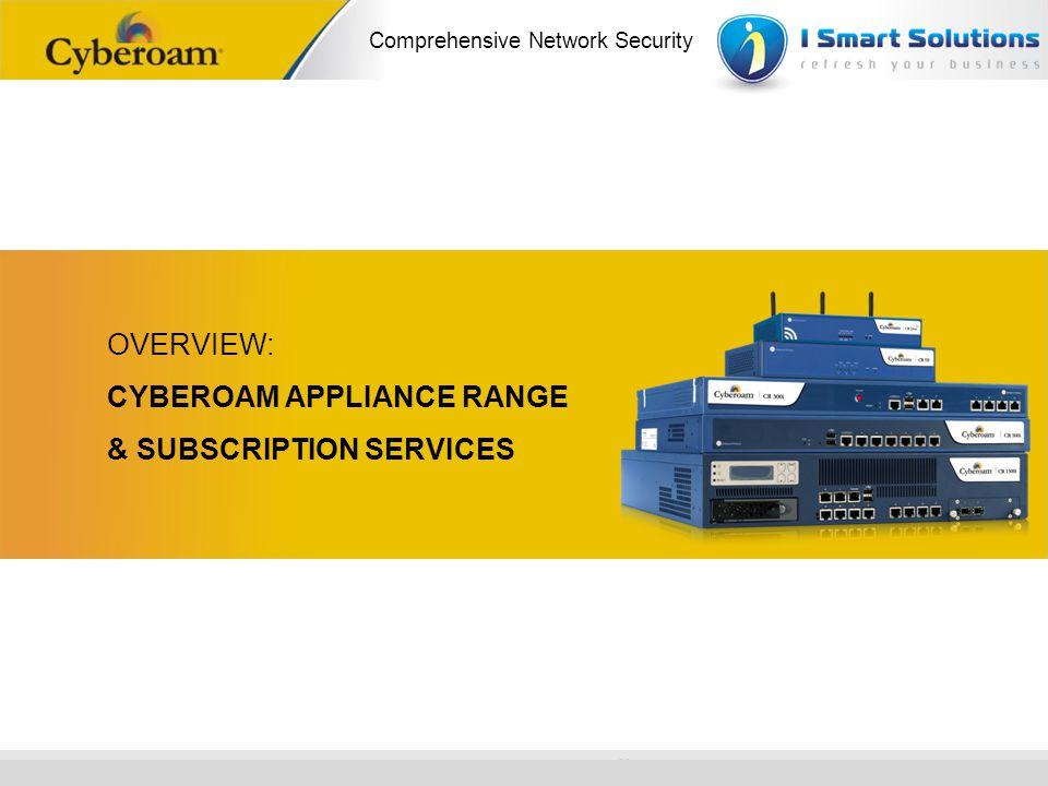 www.cyberoam.com © Copyright 2010 Elitecore Technologies Ltd. All Rights Reserved. Comprehensive Network Security OVERVIEW: CYBEROAM APPLIANCE RANGE &