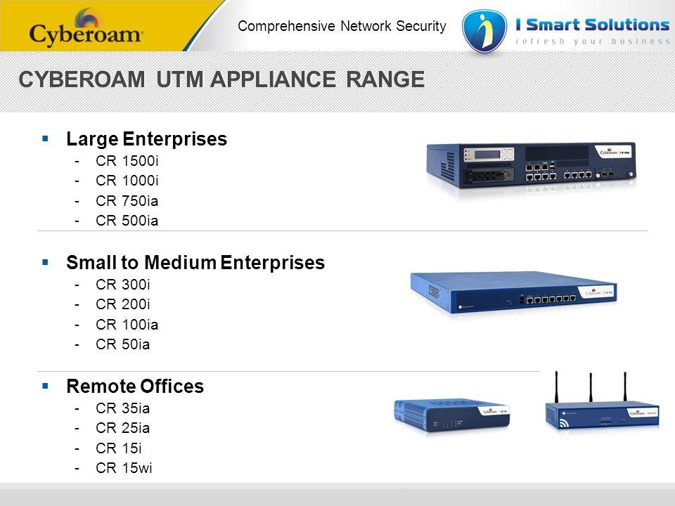 www.cyberoam.com © Copyright 2010 Elitecore Technologies Ltd. All Rights Reserved. Comprehensive Network Security Large Enterprises -CR 1500i -CR 1000