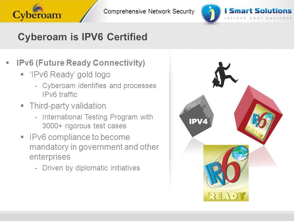 www.cyberoam.com © Copyright 2010 Elitecore Technologies Ltd. All Rights Reserved. Comprehensive Network Security IPv6 (Future Ready Connectivity) IPv