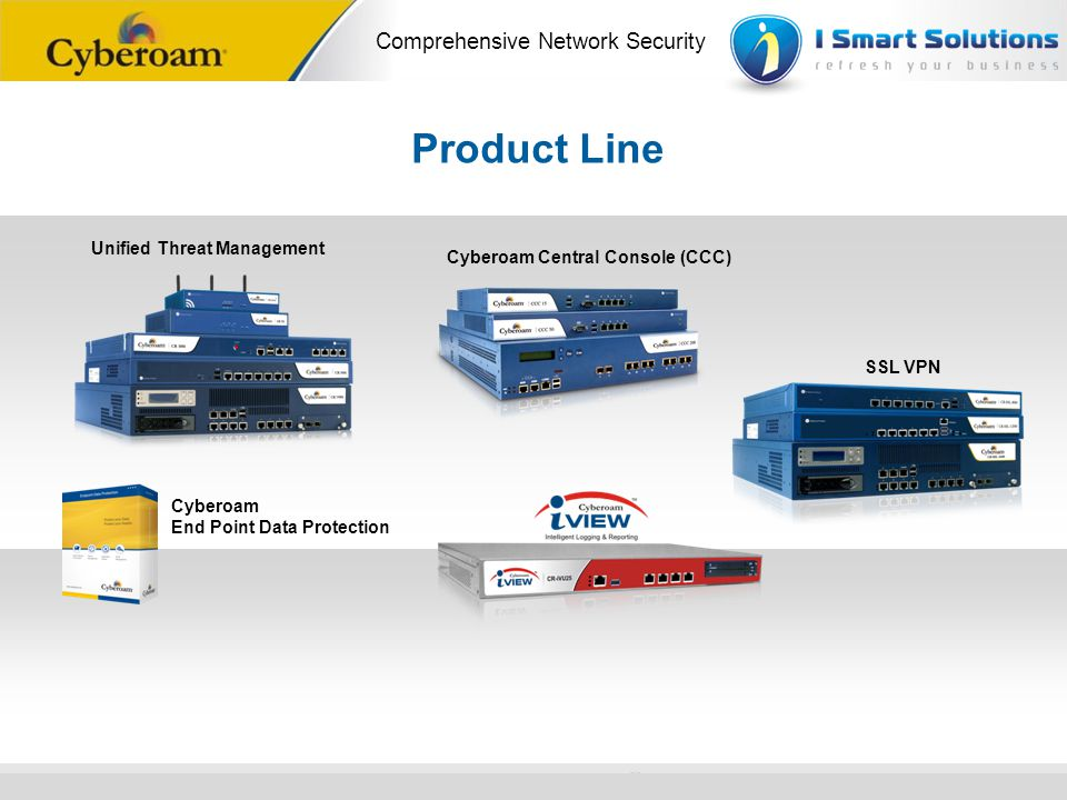 www.cyberoam.com © Copyright 2010 Elitecore Technologies Ltd. All Rights Reserved. Comprehensive Network Security Product Line Unified Threat Manageme