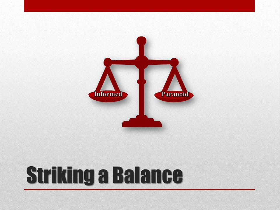 Striking a Balance