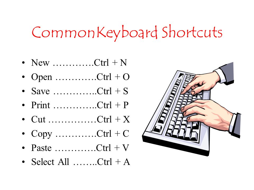 Controlling Windows via the keyboard Keyboard – used to enter data and to issue commands to the computer.