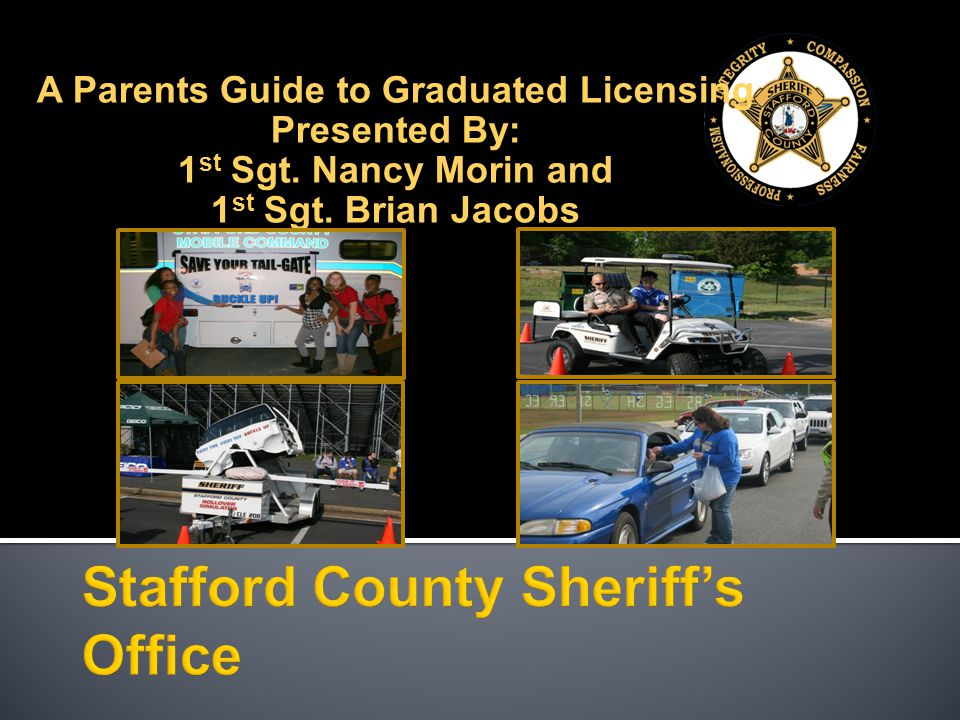 A Parents Guide to Graduated Licensing Presented By: 1 st Sgt. Nancy Morin and 1 st Sgt. Brian Jacobs