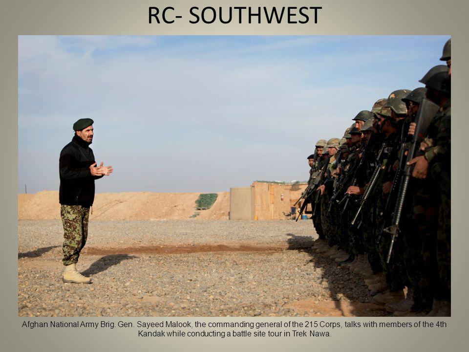 RC- SOUTHWEST Afghan National Army Brig. Gen.