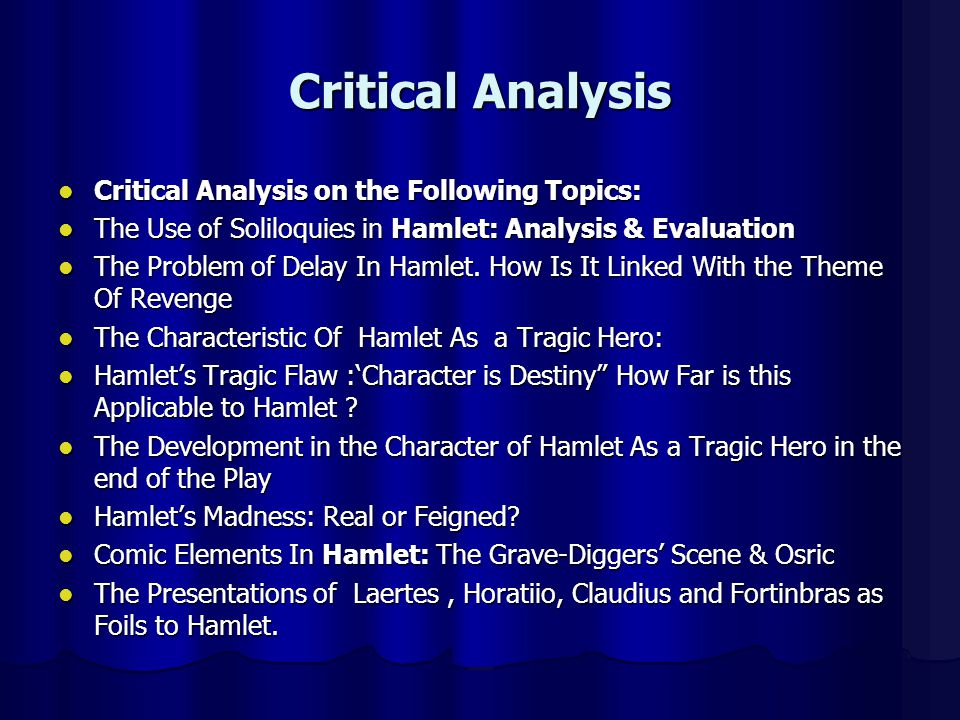 hamlet 9 essay Hamlet (vol 59) - elaine showalter (essay date 1985) ©2010 enotescom, inc or its licensors please see copyright information at the end of this document.