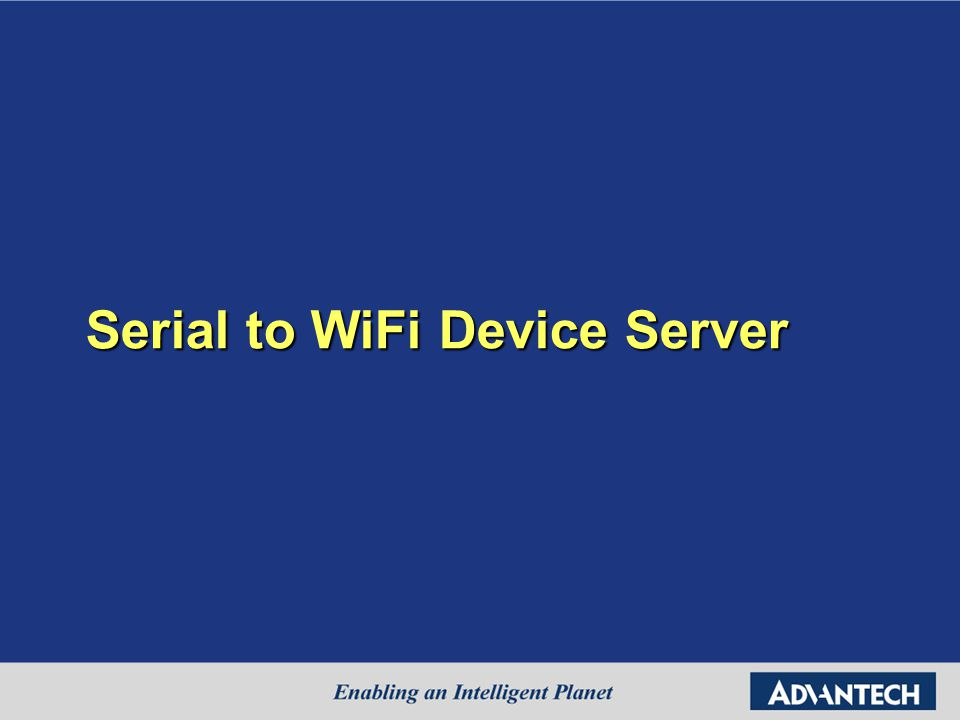 Serial to WiFi Device Server