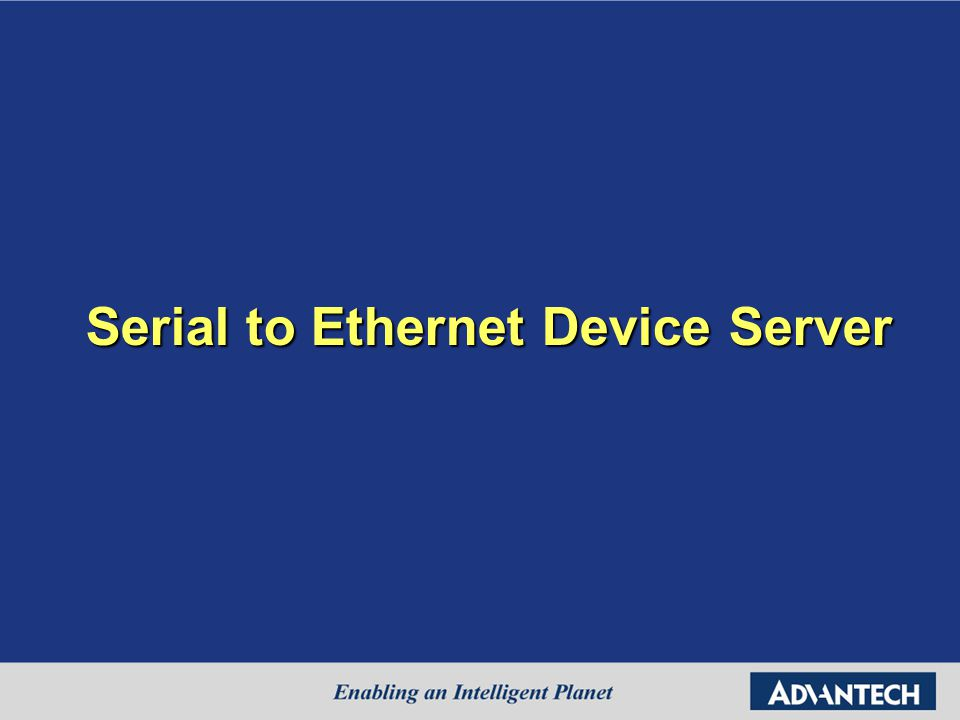 Serial to Ethernet Device Server