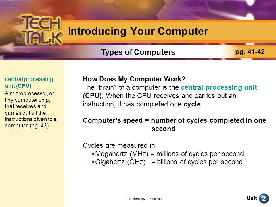 Unit Technology in Your Life Bits, Bytes, and Binary Numbers Bits and bytes are small pieces of computerized data that communicate commands to a computers CPU: A bit is either a 1 or a 0 (binary digits).