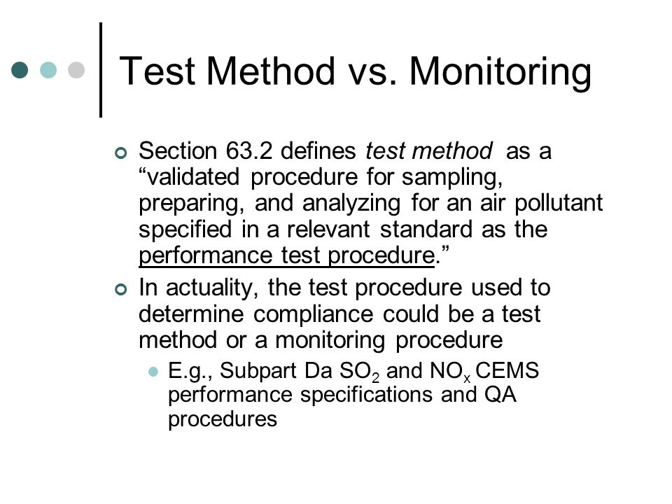 Test Method vs.