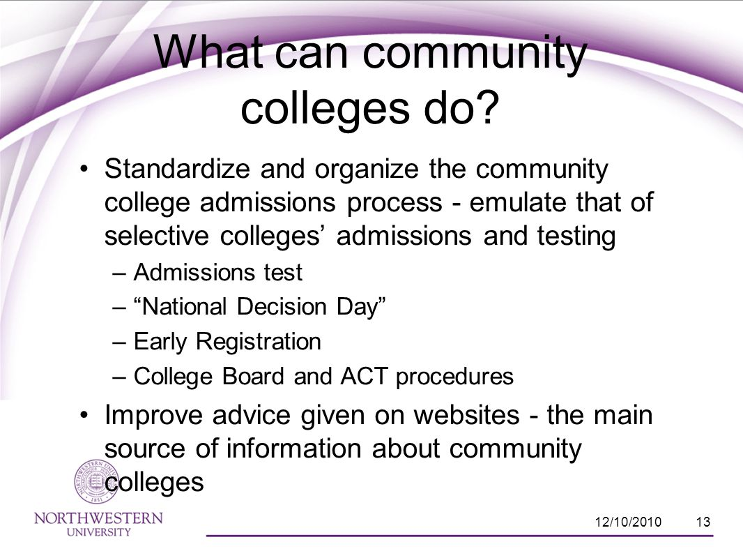 What can community colleges do.