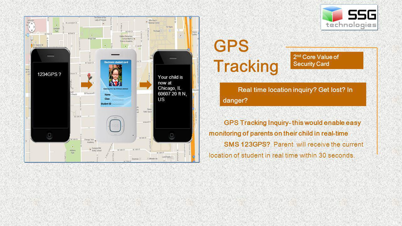13 Real time location inquiry. Get lost. In danger.