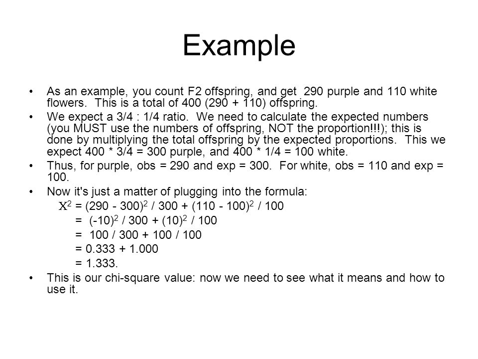 Calculating the Chi-Square Value Use the formula.