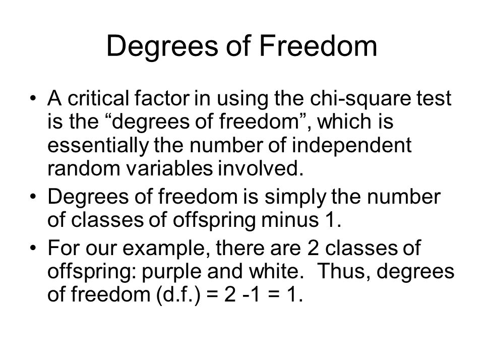 Critical Chi-Square Critical values for chi-square are found on tables, sorted by degrees of freedom and probability levels.