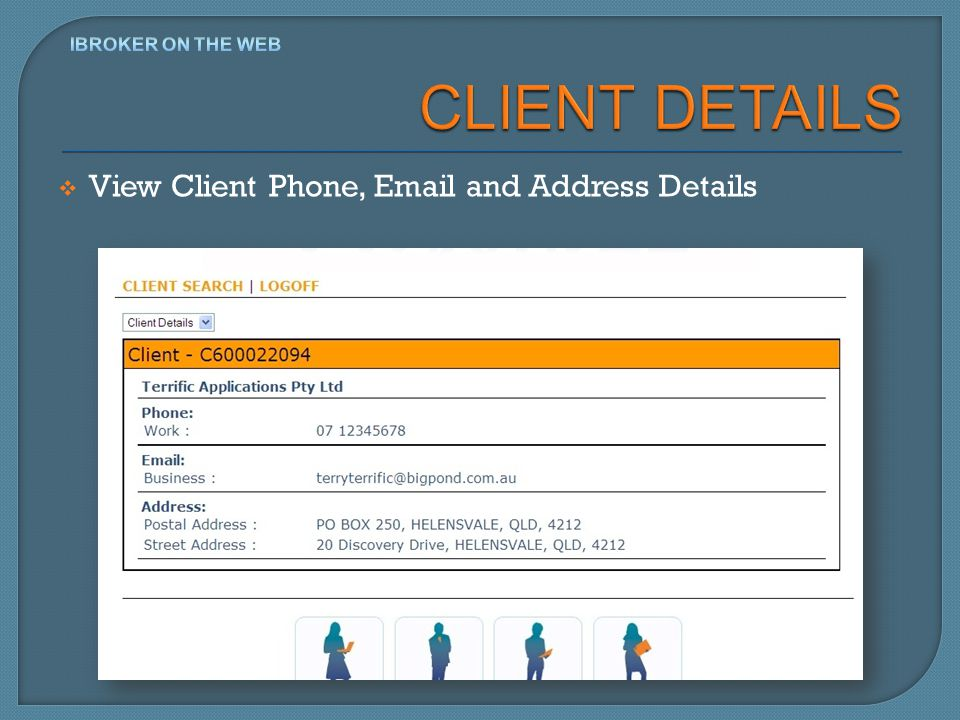 View Client Phone, Email and Address Details