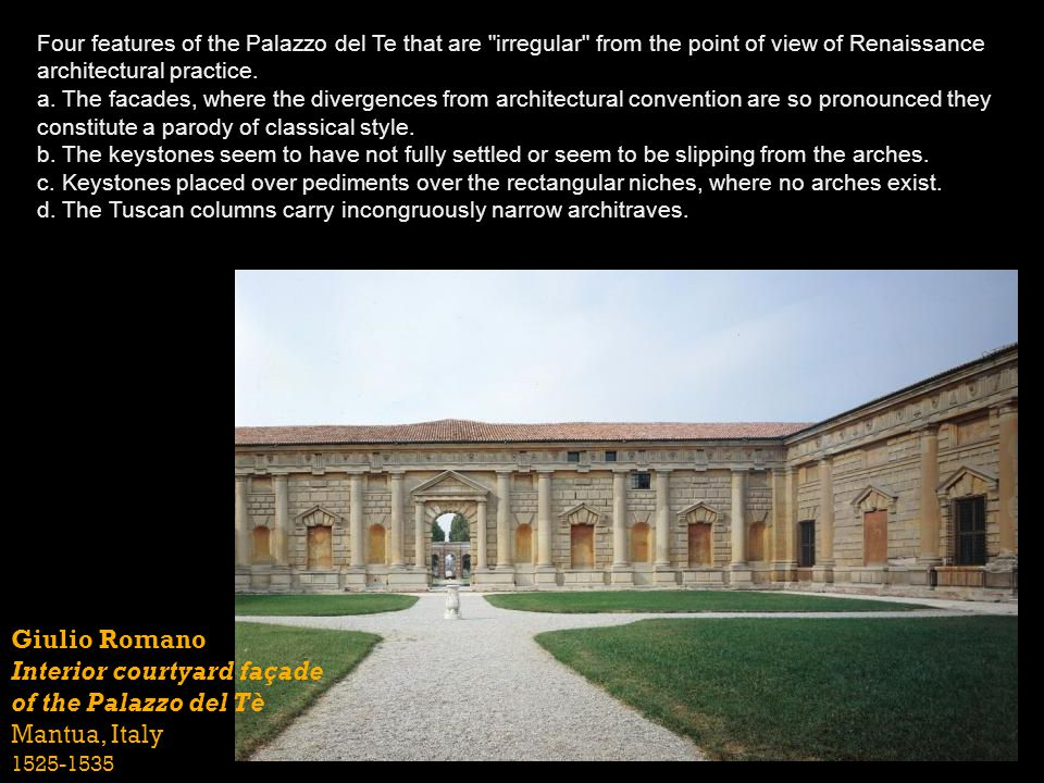 Four features of the Palazzo del Te that are