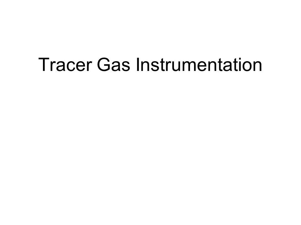 Tracer Gas Instrumentation